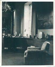 "1969 Prince Phillip Duke of Edinburgh in his study 10*8"" press photo"