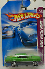 GREEN 2008 135 3 MUSCLE 1969 R/T SCAT PACK MOPAR CHARGER DODGE BOYS HOT WHEELS