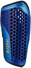 Mitre Aircell Carbon Slip Football Shin Pads - Blue Cyan Yellow, Medium