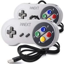 2 Pack iNNEXT SNES Retro USB Super SNES Controller Gamepad Joystick for PC & MAC