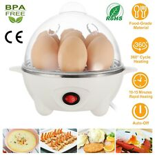 Electric Egg Cooker Boiler 7 Egg Steamer Non Stick Hard Boiled Auto-Off US