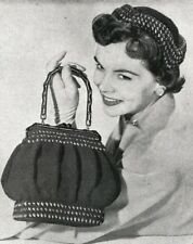 50's 1954 Crochet  Pattern  to make a handbag and hat.  Vintage pattern #5462