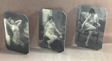 Lot of 3 Risque Nudes tintype 403-405RP