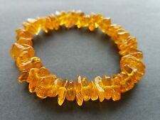 Bracelet universal size made of natural Baltic amber, clear honey