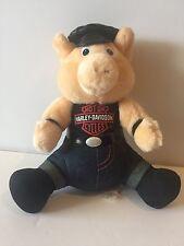 1998 Official Licensed Harley Davidson Biker Pig Hog Plush Stuffed Animal Hat