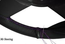 FITS TRIUMPH SPITFIRE 1500 GENUINE LEATHER STEERING WHEEL COVER PURPLE STITCHING