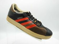 Adidas Gazelle 665727 Size 11 M Black Brown Leather Limited Edition Mens Shoes