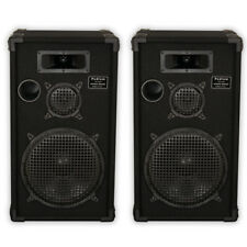 "Podium Pro by Goldwood E1200C Passive Speakers 12"" Pair 3 Way PA DJ Karaoke Home"