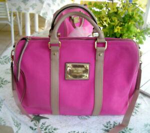 NWT Victorias Secret Pink Canvas Classic Speedy Large Tote Overnight Handbag