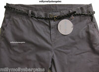 New Womens Marks & Spencer Purple Chino Trousers Size 16 Petite L28  LABEL FAULT