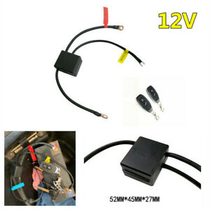 Wireless Dual Remote Battery Disconnect CutOff Master Kill Switch Motorcycle Kit