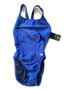 Speedo Women's Swimsuit One Piece Competitive PROLT SUPRO-A Solid Blue Size 8/34