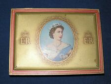 QUEEN ELIZABETH II  CORONATION CIGARETTE TIN  1953  W.D. & H.O.WILLS.  VINTAGE