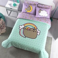 The Cats Pusheen Kids Girls Official Reversible Comforter Set 2 Pcs Twin Size