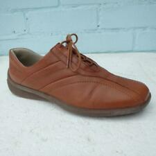 Ecco Leather Shoes Trainers Size UK 8 Eur 41 Womens Lace up Brown Shoes