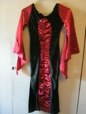 Girls Victorian Witch Costume, Size 8 Used Halloween