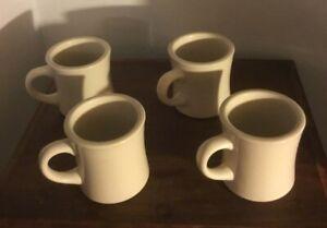 Vintage 4 Delco  Atlantic China Restaurant Coffee Mugs / Cups Heavy