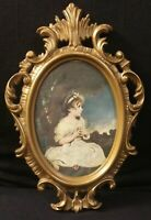 Vintage Framed Artwork, The Age of Innocence- Sir Joshua Reynolds, Ornate Frame