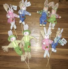 Pick a Pair Bunny Rabbit Yard Stakes 18� Easter Spring. Couple, 2 Girls, 2 Boys