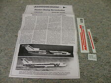 Aerocolours decals 1/200 Sheet#AC209 Western Boeing Narrowbodies   Box 10