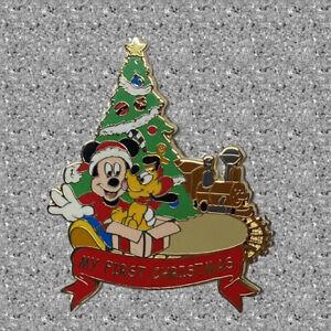 My First Christmas Pin - Mickey & Pluto - Disney Pin WDW
