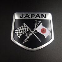 50mmx50mm Japanese Flag Shield Emblem Metal Badge Car Motorcycle Sticker Newly