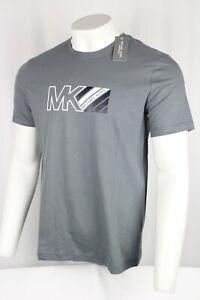 Michael Kors Men's Loungewear Short Sleeve Logo T-Shirt Small Storm Grey
