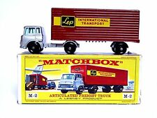 MATCHBOX LESNEY M-2b Bedford TK articulé transport camion type D Box (LEP très bon état)