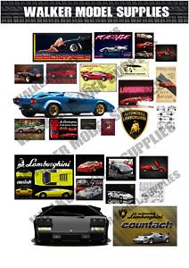 1:24 scale Pre-cut Garage lamborghini countach sign stickers/ model