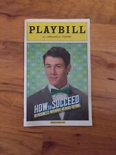Nick Jonas How To Succeed in Business without Really Trying Broadway playbill