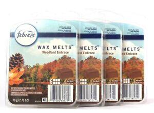 4 Packs Febreze 2.75 Oz Woodland Embrace 6 Count Wax Melts Eliminates Odors