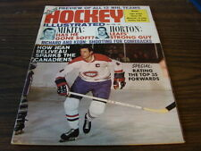 1968 HOCKEY ILLUSTRATED  Nov Issue Jean Beliveau Montreal Canadiens