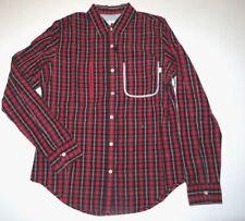 New Burton Womens Eva Long Sleeve Button Up Cotton Casual Woven Shirt Top Medium