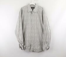 Vintage Jhane Barnes Mens Large Multi-Color Striped French Cuff Dress Shirt