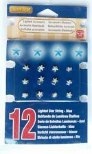 Lemax Village 12 blue star mini string lights