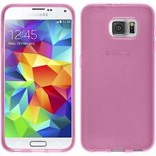 Silicone Case for Samsung Galaxy S6 transparent pink + protective foils