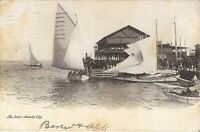 Atlantic City, NEW JERSEY - The Inlet - 1905 - sailboats