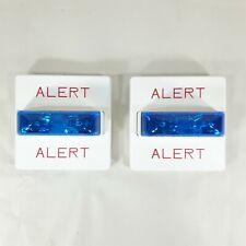 (Lot of 2) Wheelock RSSB-24MCW-NW White Fire Alarm Signal Strobe Blue Lens H2
