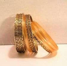 87d67a57140 Bracelets Bangles Gold Plated plastic 15 piece Fashion Jewelry. Beautiful  set