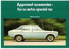 Hillman Avenger Accessories 1974-75 UK Market Foldout Sales Brochure