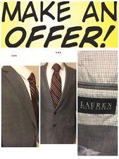 Men's Ralph Lauren Polo Gray Houndstooth Sports Coat Blazer Jacket 42 L ID420