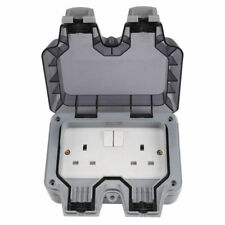 Weatherproof Outdoor 13A 2 Gang Twin Switched Double Socket IP66 Outside WP22