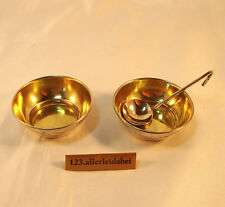 2 alte Russische Salieren Salzgefäße 875 Silber Saliere & Löffel / AY 170