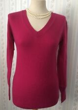 Ladies Pure Cashmere Jumper in Fuchsia Pink by Fenn, Wright and Manson. UK M