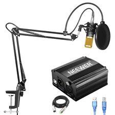 Neewer NW-800 Microphone + NB-35 Scissor Arm Stand +USB 48V Phantom Power Supply