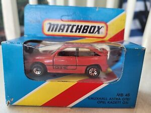 MATCHBOX - VAUXHALL ASTRA GTE [RED] NEAR MINT VHTF BOX GOOD MACAU