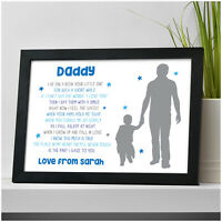 PERSONALISED Daddy and Son Daughter Christmas Gifts for Dad Grandad Uncle Him