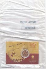 2005 Full Gold Sovereign Universel coin-Sur Carte/Scellé
