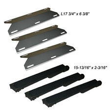 Jenn Air Gas Grill Repair Kit Replacement Grill SS Heat Plate and Burner - 3 Pk