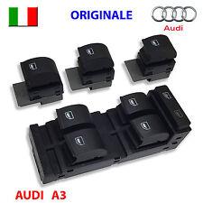 4 Pulsanti AUDI A3 S3 A6 ORIGINALI tasti pulsantiera interruttori alzacristalli
